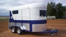 Use Hot sale horse float trailer deluxe model (2 horse trailer )