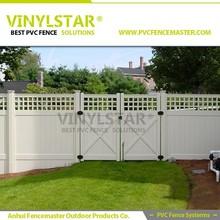 Vinyl Privacy fence with lattice top