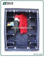 non-woven fabirc folding steel fashion girls bedroom wardrobe