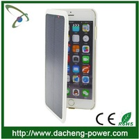 Newly arrival hotly selling 4200mAH solar power phone case for IPhone 6 plus