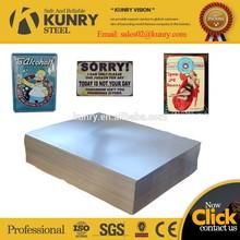Fornecedor de metal decoração tin placa
