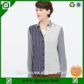 blusa elegante design modelo de blusa de uniforme para as mulheres camisa de manga comprida
