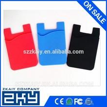 Best selling product silicone mobile phone card holder, credit card holder wallet for men