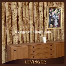 Levinger Popular Natural Countryside 3D Brown Wood Type Wallpaper
