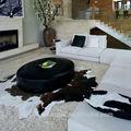 Pp série fausse fourrure tapis, Peau de vache tapis gros