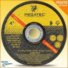 """4"""" 100X2.5X16mm T41 Flat PEGATEC Cutting Disk"""