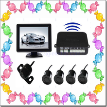 4 sensors reverse night vision camera system 4.3 inch color lcd monitor hot selling