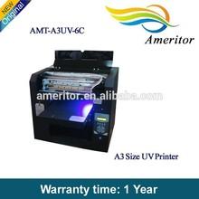 6/8 color A3+ size E/pson printer head uv led flatbed printer