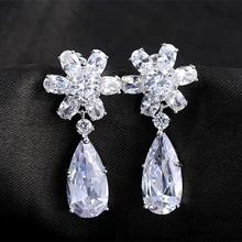 Fashion zircon earrings simple style cat ears Fashion zircon earrings free samples