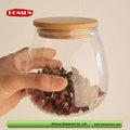 2015 tokio utensilios de cocina mostrar invita a la claro hermético frasco de almacenamiento de vidrio con tapa de corcho