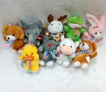 7cm various mini plush animal keychain toys/custom plush keychain