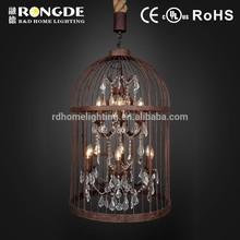 Lampadario lampada importati dalla cina, lampadario gabbia per uccelli, lampadario in stile country