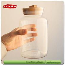 Oriental infusion borosilicate glass 350ml glass storage jar