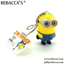 Free Sample 3D Despicable Me Minions Keychain