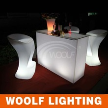commercial bright colored led bar table create wedding party