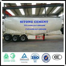 China supply bulk cement tanker trailer , bulk powder material tanker semi trailer for sale