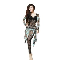 2-Pieces Belly Dance Costumes with Lace Bra+Lace Pants for Autumn & Winter(BX003)