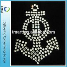 wholesale crystal rhinestone motif t-shirt