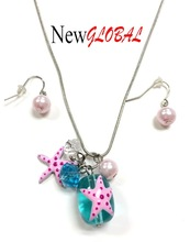 Latest design beaded crystal necklace Sea Creature