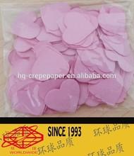 party paper heart shape confetti
