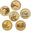 la costumbre de más edad de oro tokens réplica de las monedas de cobre de china