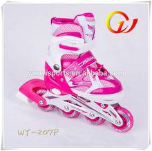 children on road adjustable roller skates