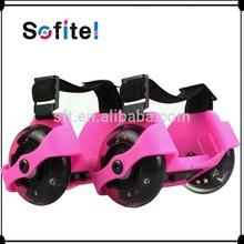 Sporting Pulley Flash Roller Easy-on Heel Skates Pink