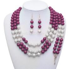 Precio de fábrica venta al por mayor cristal de Murano para mujer populares sistema de la joyería