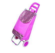 Fashion Pink color lady shopping trolley bag
