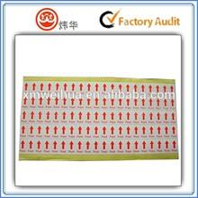 custom color arrow shape paper sticker