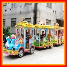 Trackless train attractive game children car 4 to 10 players