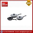 5pcs aluminum forged non-stick marble coating buffalo cookware set