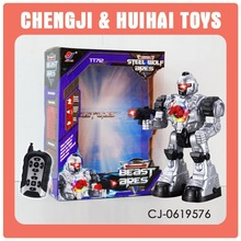 Remote control electric smart robot with flash light for kid gift