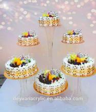 Cheap custom acrylic wedding cake holders acrylic cake stand holder for birthday party good quality