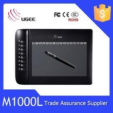 digital writing pad Ugee M1000L 10x6 inch hot keys best digitizer pen tablet