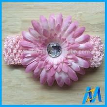 Fashion Christmas Hair Accessory Flower Making Elastic Headband Hair Hand 4cm Width With Big Flower