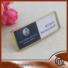 24*70mm Hot Sale Creative Metal & Plastic Reusable Name Badge