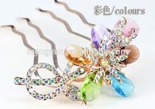 Headdress diamond-encrusted hair put diamond crystal fork comb comb hair hair clasp hair dish hair hairpin bride hair accessorie