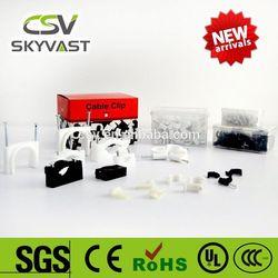 free samples CSV PE white black square nylon cable clip (3mm to 40mm)
