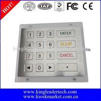 Rugged metal numeric keypad keyboard for ATM machine