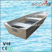 15ft V Bass Favorite Aluminium Fishability Boat For Hot Sale