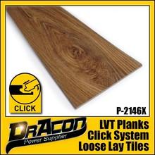 Wood Grain 5mm Click Vinyl PVC Flooring