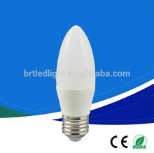 best price 3w 5w AC220v c37 e27 led candle bulb e14