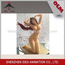 China Factory OEM custom Gifts japanese sex cartoon nude girl scale resin figure
