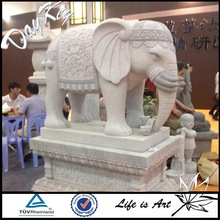 2014 Hot sale high quality life size marble elephant statue