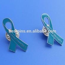 Popular Awareness Metal Green Ribbon Badge, Ribbon Design Lapel Pins Emblem (BS-JL-LP-14122503)