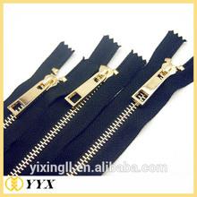 Fashion 8# White Gold Teeth Metal Zipper Open End