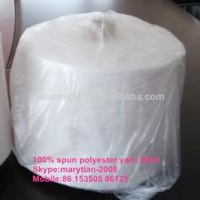 100%polyester spun yarn color 30/1 knitting