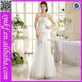 2015 estilo novo e elegante strapless poliéster noivas vestido de noiva sereia hs508