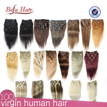 Wholesale High Quality Brazilian/Indian/Malaysian Hair Full Head Clip In Hair Extensions